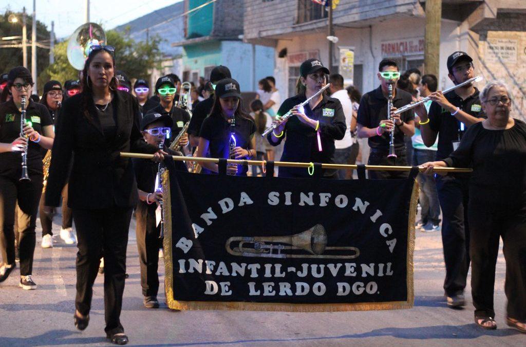 Se ilumino de NEÓN el Festival Internacional Lerdantino con el encuentro de bandas